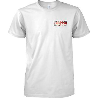 British Grunge Country Name Flag Effect - Union Jack - Mens Chest Design T-Shirt