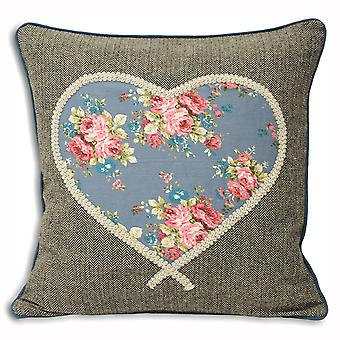 Riva Home Sweet Cottage Heart Cushion Cover