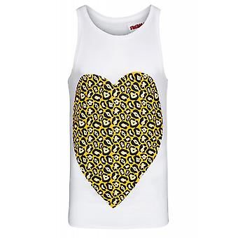 SOMeWEaR original Singlet heart shirt men's top White with cool print