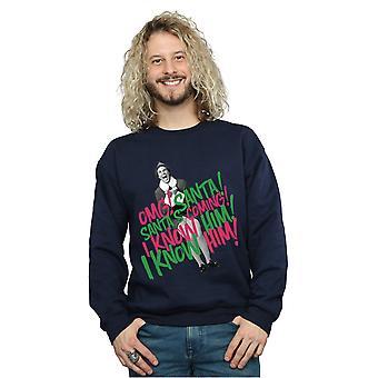 Elf Men's Santa's Coming Sweatshirt