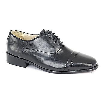 Montecatini Mens Folded Cap Oxford Tie Leather Shoes