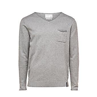 Jack and Jones Premium Bryan V-Neck  Grey Jumper