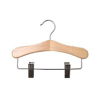 Caraselle Childrens Wooden Hanger with Adjustable Clips 25cm wide