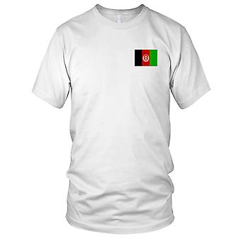 Afghanistan Afghani Country National Flag - Embroidered Logo - 100% Cotton T-Shirt Ladies T Shirt