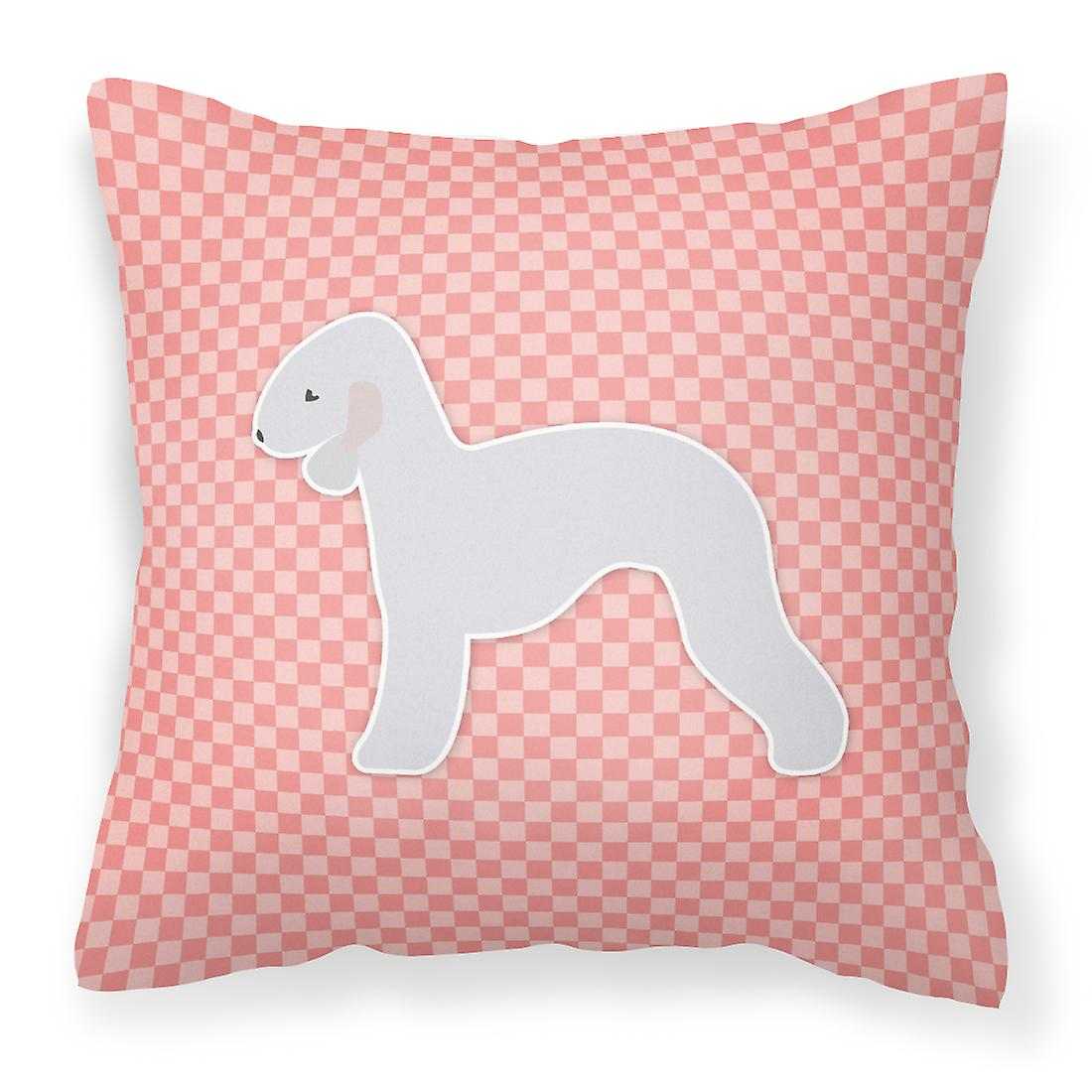 Bedlington Oreiller Rose Décoratif Tissu Damier Terrier W29DEHI