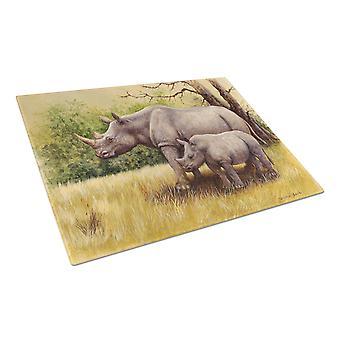 Rinoceronte di Daphne Baxter tagliere grande di vetro