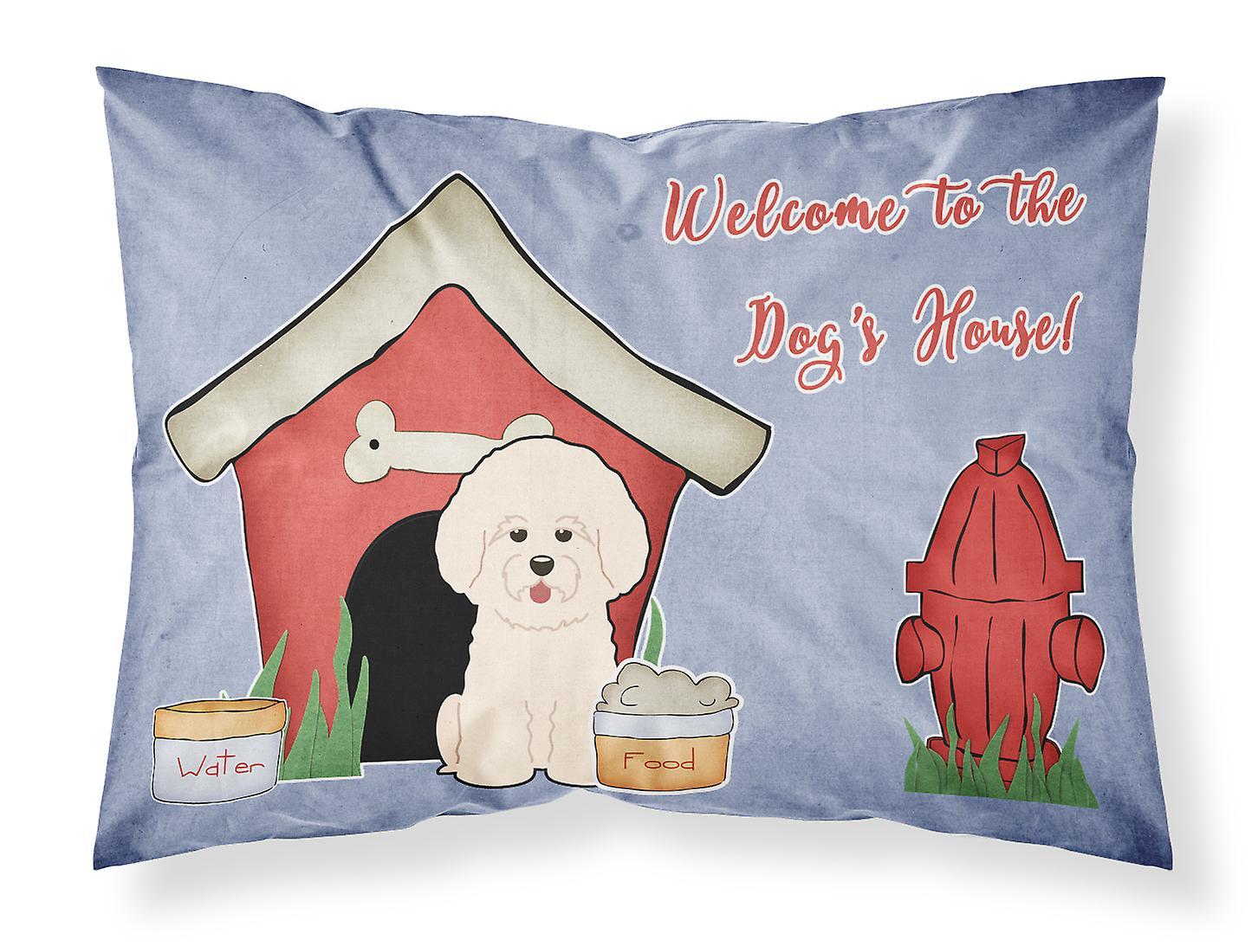 Dog Bichon Taie Frise D'oreiller House Tissu Standard Collection 5j4cqALS3R