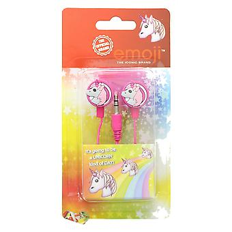 Emoji Unicorn Pink Earphones With Silicone Buds For Phones & Tablets