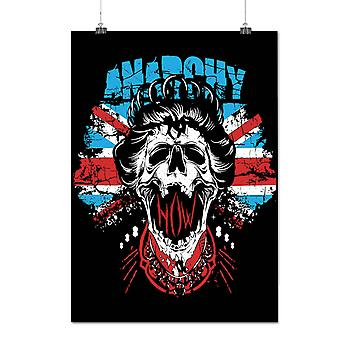 Matte or Glossy Poster with Anarchy Skull Flag UK | Wellcoda | *d121
