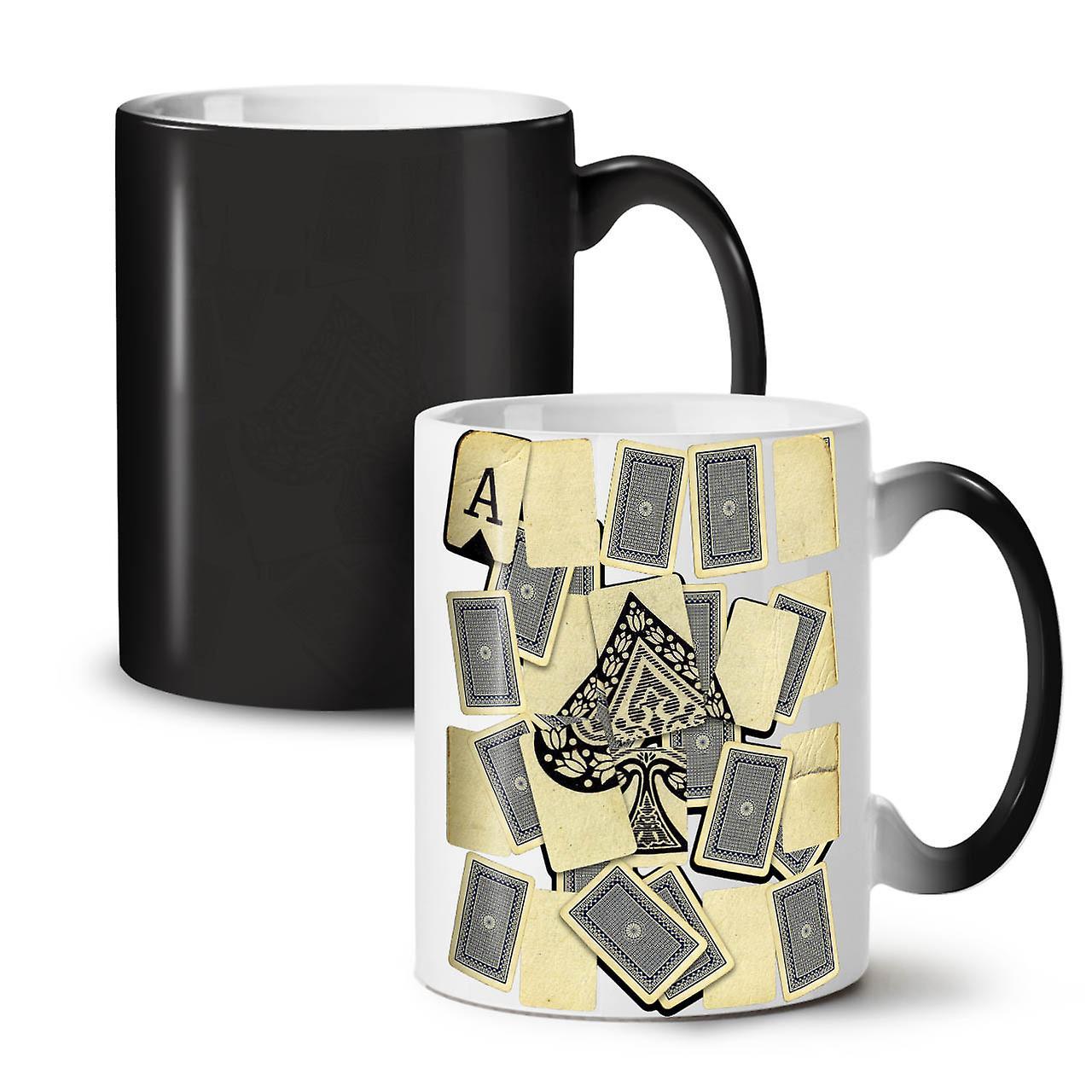 Café Carte Thé Céramique Nouveau OzWellcoda Changeant De Noir Tasse Spades Ace Of Couleur 11 BxCerdoW