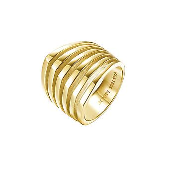 Joop women's ring stainless steel gold LINES JPRG10645B1