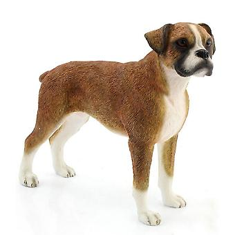 Brown Boxer Figurine