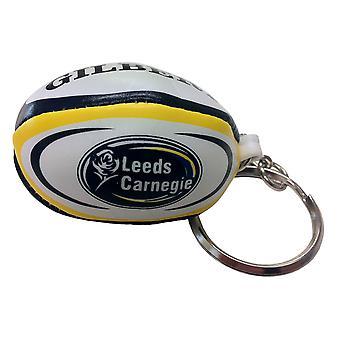 GILBERT Leeds Carnegie rugby ball key ring