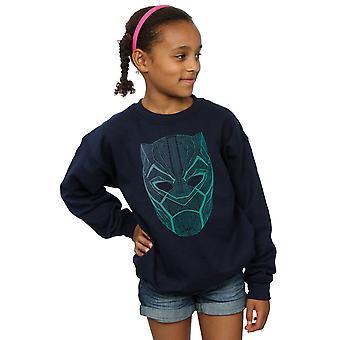 Marvel Girls Black Panther Tribal Mask Sweatshirt