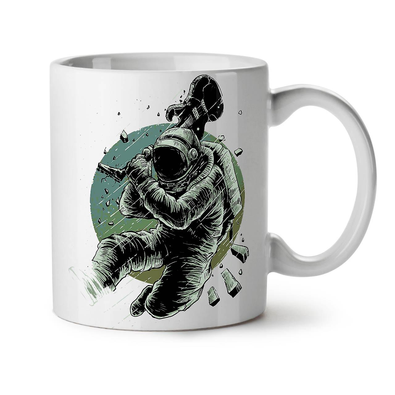 L'astronaute Nouveau OzWellcoda Tasse Céramique 11 Café Espace Thé Guitare Blanc b7gyfY6Iv