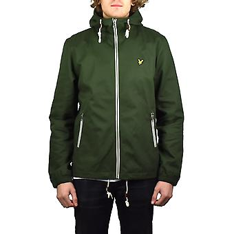 Lyle & Scott Twill Hooded Jacket (Dark Sage)