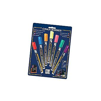 Pack of 7 Assorted Chalk Markers with 2mm Nib