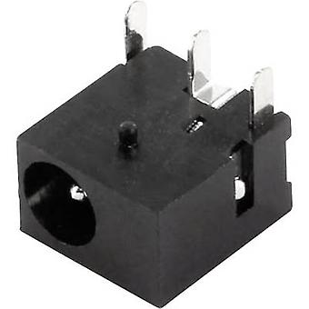Low power connector Socket, horizontal mount 1 mm