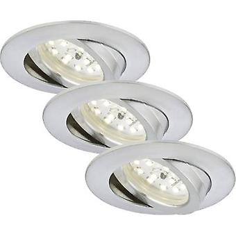 LED recessed light 3-piece set 16.5 W Warm white Briloner