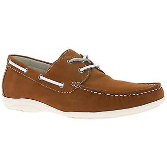 air4men by CAPRICE real leather shoes men's Brown