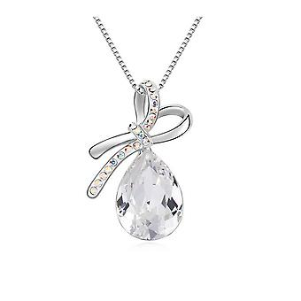 Pendant N? ud Crystal from Swarovski Elements white and white gold plate