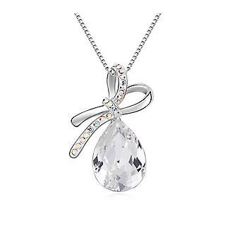 Hanger N? ud kristallen van Swarovski elementen wit en wit goud plaat