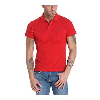 ETRO men's 1Y0409150604 red cotton polo shirt