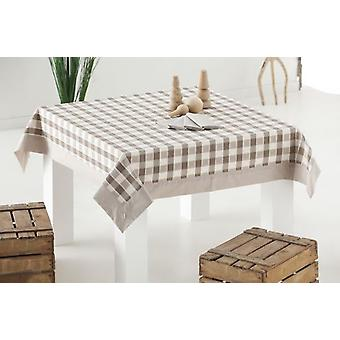ES-TELA Tablecloth Thread Tinted with Napkins Rioja Stone with Wall Lamp