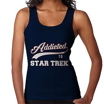 Addicted To Star Trek Baseball Font Women's Vest