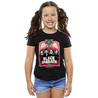 Black Sabbath Girls Flames Distressed T-Shirt