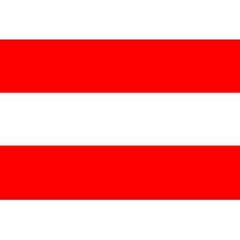 Østerrikes flagg 5 ft x 3 ft med hull For hengende
