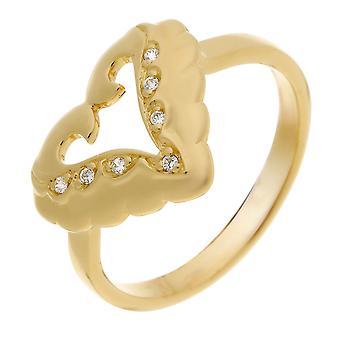 Orphelia Silver 925 Ring  Zirconium  Gold  ZR-3936/1