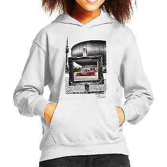 BMW Art Car Calder Black And White Frame Kid's Hooded Sweatshirt