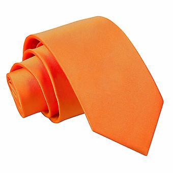 Plaine d'Orange brûlé Satin régulier cravate pour les garçons