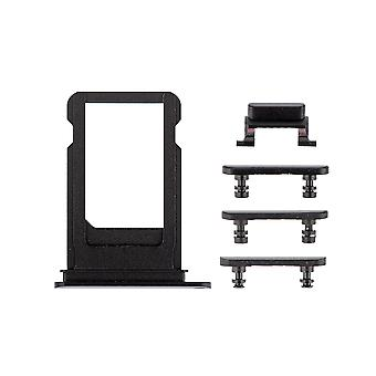 Black Side Buttons Set with SIM Tray For iPhone 7 Plus