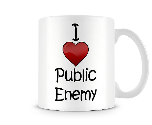 I Love Public Enemy Printed Mug