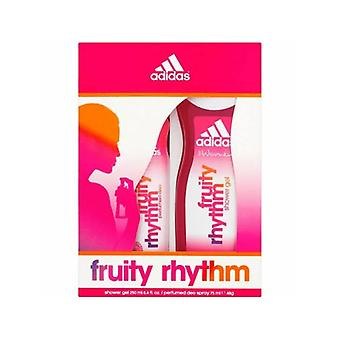 Adidas Adidas Fruity Rhythm Geschenk-Set - 75ml Body Spray & Duschgel