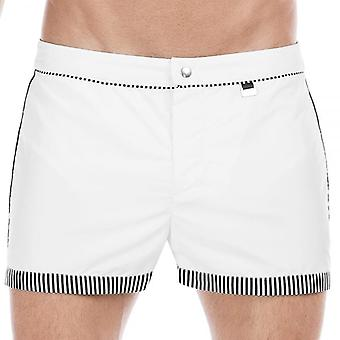Hom Santa Cruz Bond Swim Shorts, White, Medium