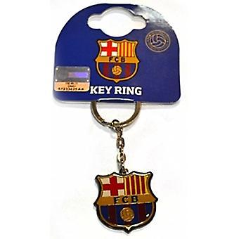 Fc Barcelona Crest Metal / Enamel Keyring