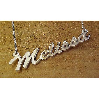 Name necklace with your name up to 9 characters made from 925 sterling silver