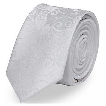 Zawiązać krawat krawat krawat 6cm biała uni Paisley wzór Fabio Farini