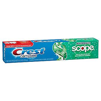 Crest complete whitening + scope toothpaste, minty fresh, 6.2 oz