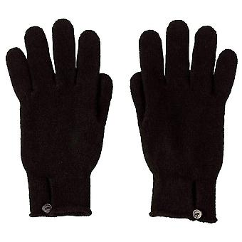 Johnstons of Elgin Button Loop Gloves - Black