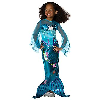 Blue magical Mermaid mermaid costume dress blue for children