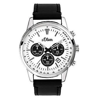 couro de relógio de pulso relógio s.Oliver masculino SO-3687-LC