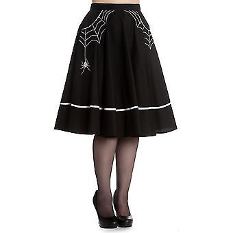 Hell Bunny Black Miss Muffet Skirt M