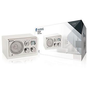 König HAV-TR1200 bærbare Retro MP3/Smartphone/tavle Radio hvit