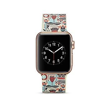 Klockrem silikon dla Apple Watch 4 40 mm, 38 mm-3/2/1 kolorowy Design