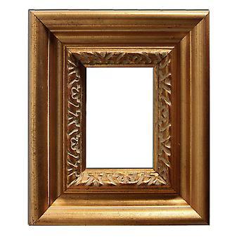 6, 7 x 9, 3 cm oder 2 3/4 x 3 3/4 Zoll, Bilderrahmen in Gold