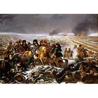 ナポレオン auf dem Schlachtfeld フォン、アントワーヌ ・ ジャン ・ グロ, トレイ 40x60cm